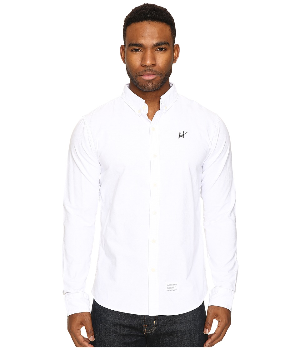 HUF - Milspec Oxford Shirt (White) Men's Clothing