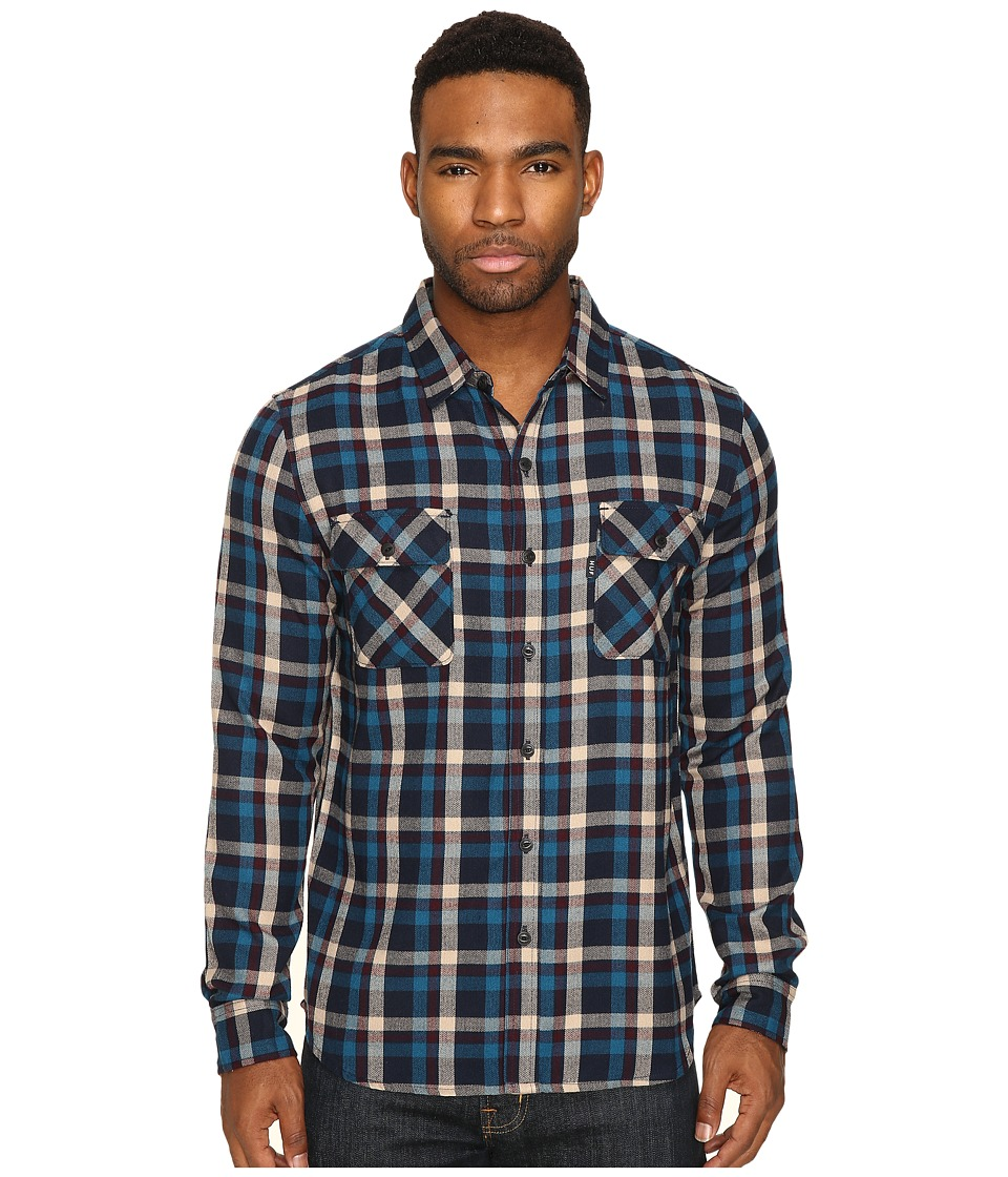 HUF - Taylor Flannel Shirt (Red) Men's Clothing