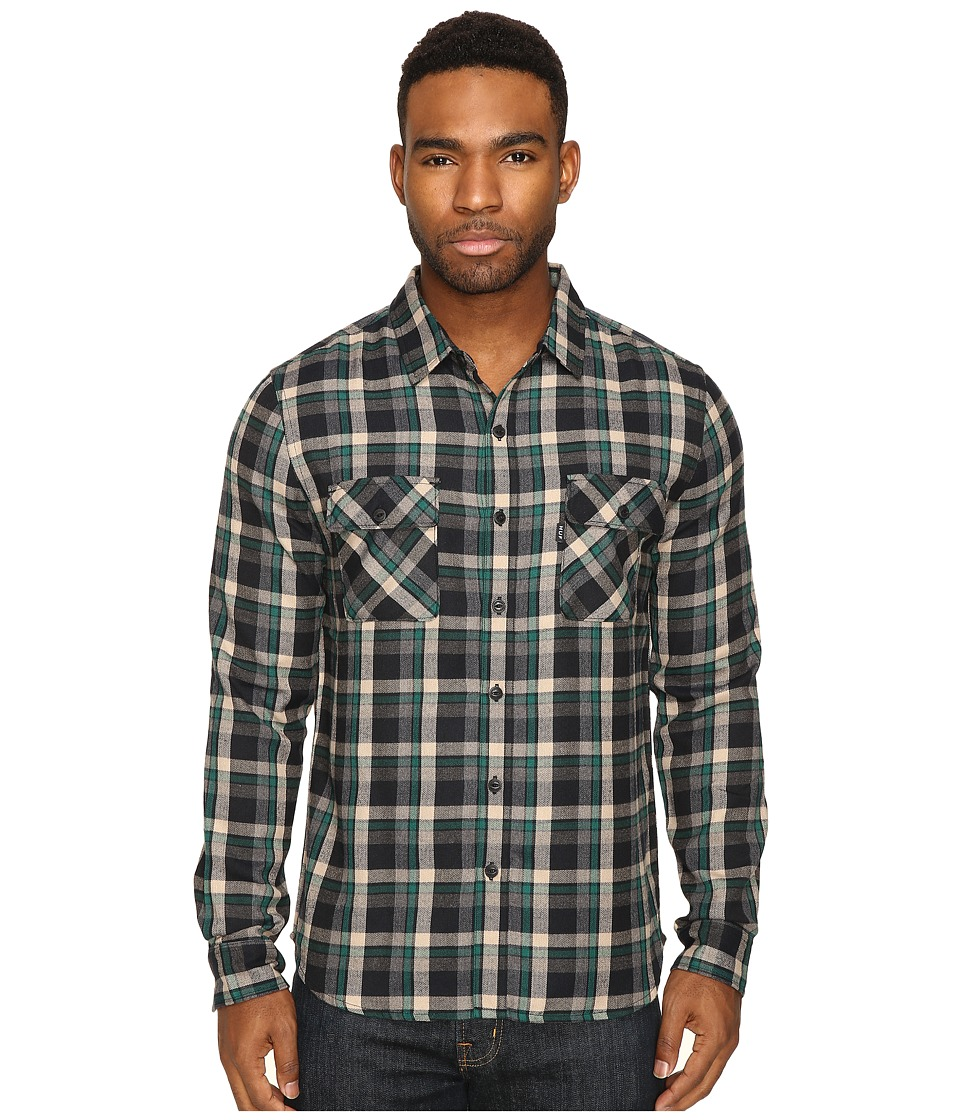 HUF - Taylor Flannel Shirt (Green) Men's Clothing