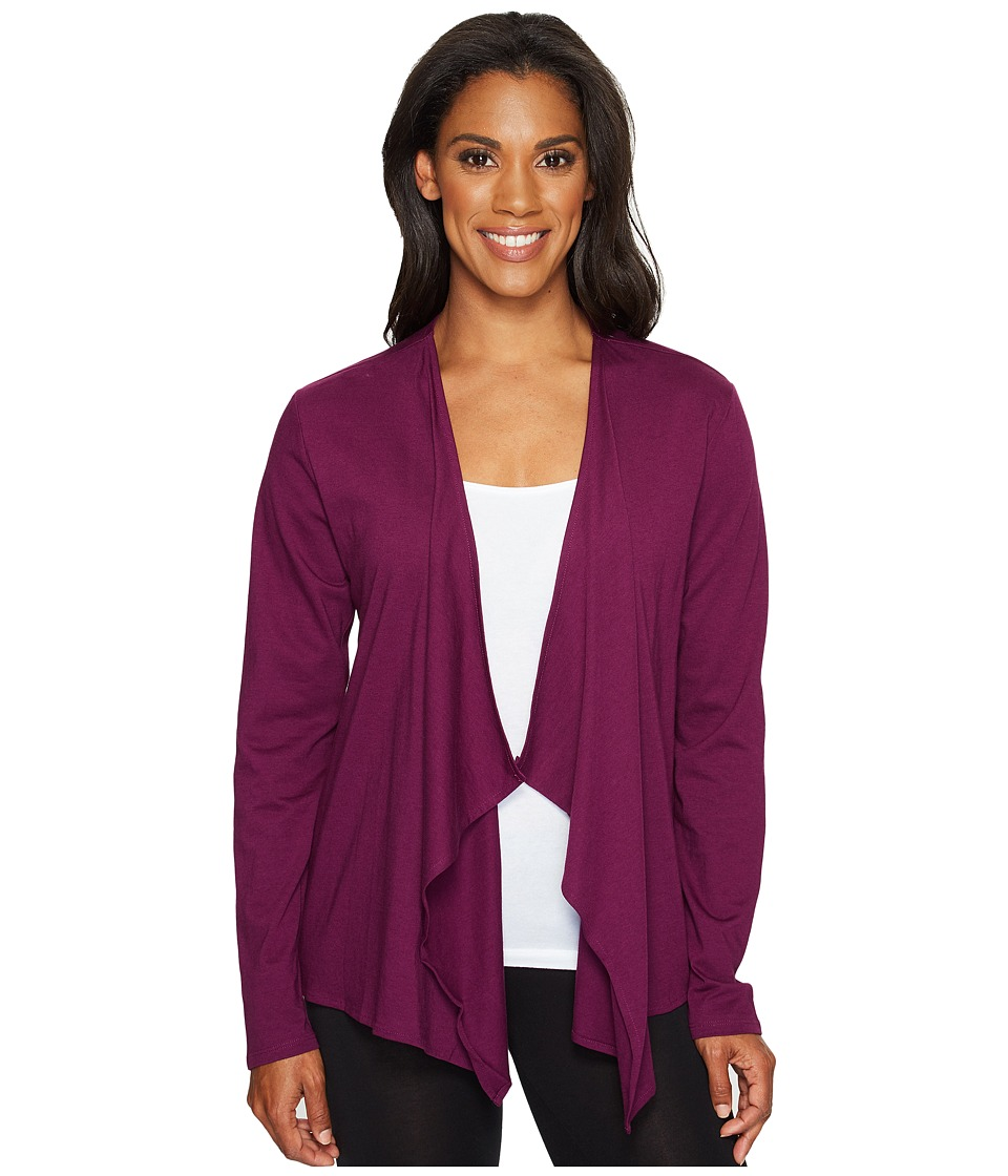 Life is Good - Fly Away Sleep Cardigan (Deep Plum) Women's Pajama