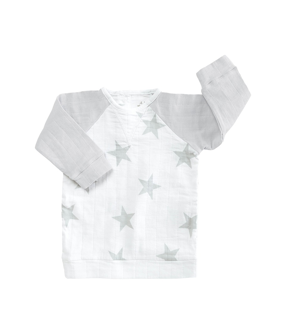 aden + anais - Long Sleeve Reglan Shirt (Infant) (Micro Chip Star) Kid's Clothing