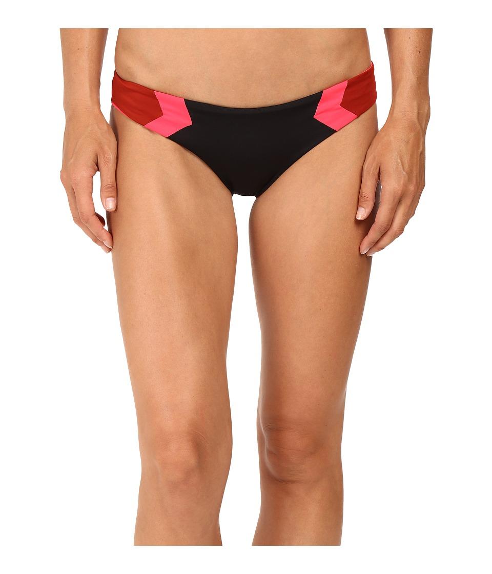 L*Space - Color Block Barracuda Classic Bottom (Black) Women's Swimwear