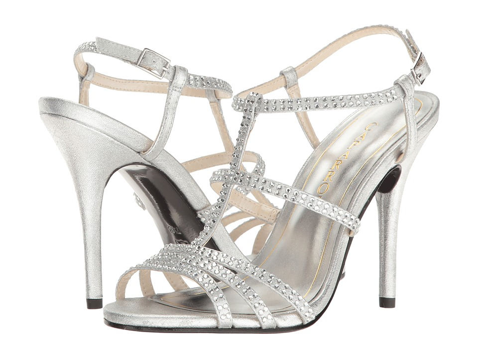 Caparros - Groovy (Silver Metallic Fabric) High Heels