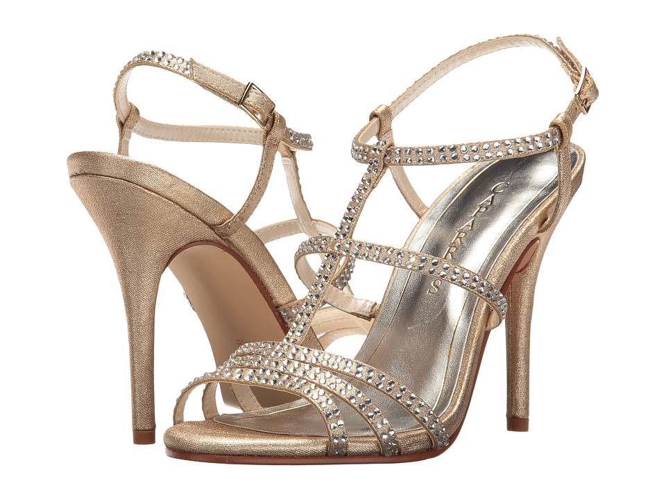 Caparros - Groovy (Gold Metallic Fabric) High Heels