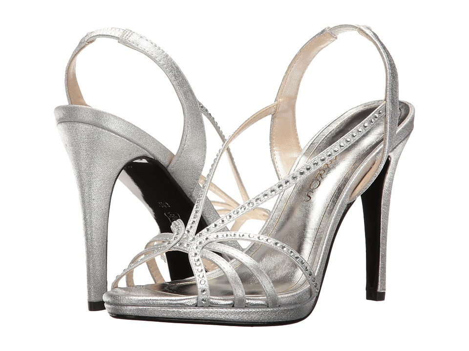 Caparros Galaxy (Silver Metallic Fabric) High Heels