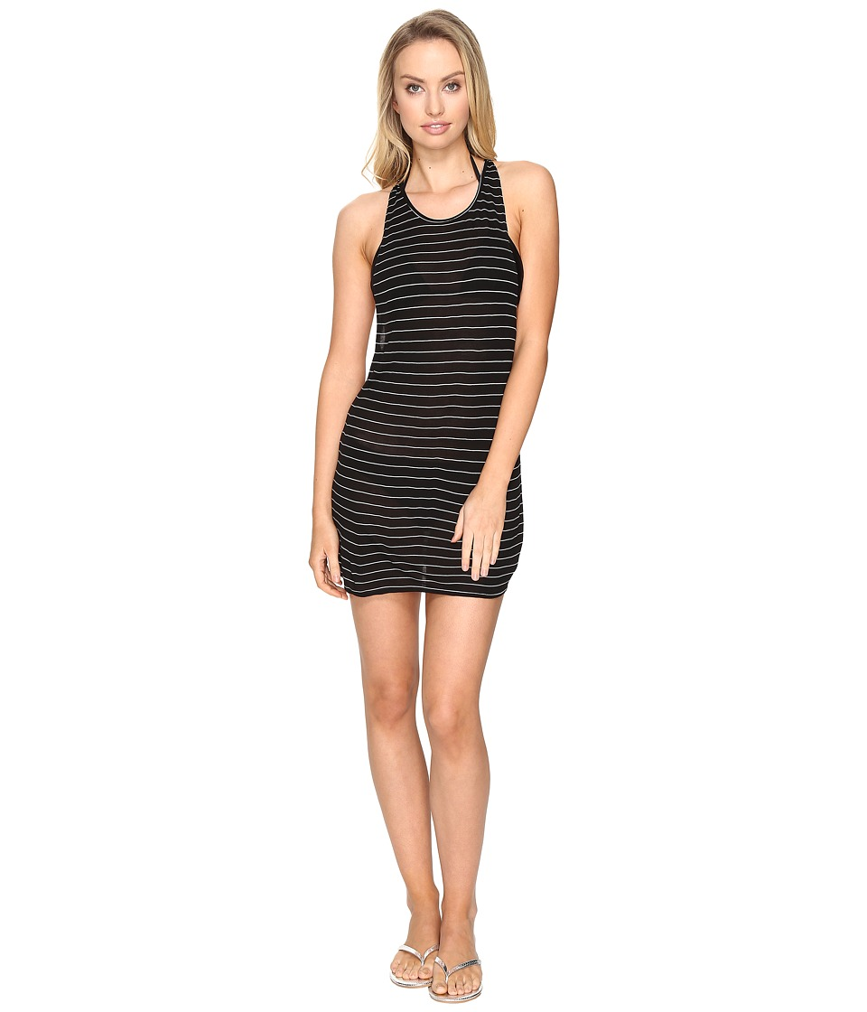 Vitamin A Swimwear - Day Tripper Tank Top Cover-Up (Black Day Trip Jer Stripe) Women's Swimwear