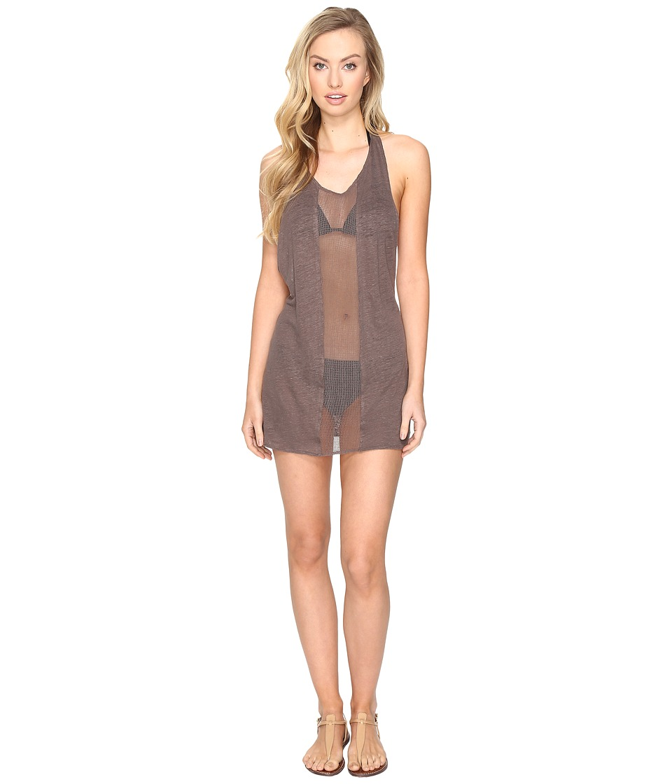 Vitamin A Swimwear - Cancun Tee Cover-Up (Eco Linen Mineral) Women's Swimwear