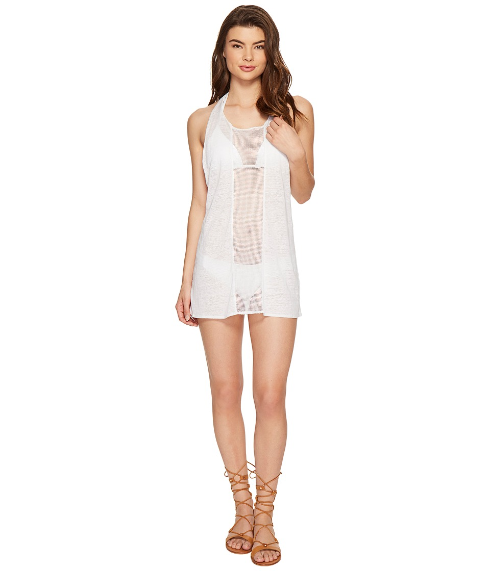 Vitamin A Swimwear - Cancun Tee Cover-Up (Eco Linen White) Women's Swimwear