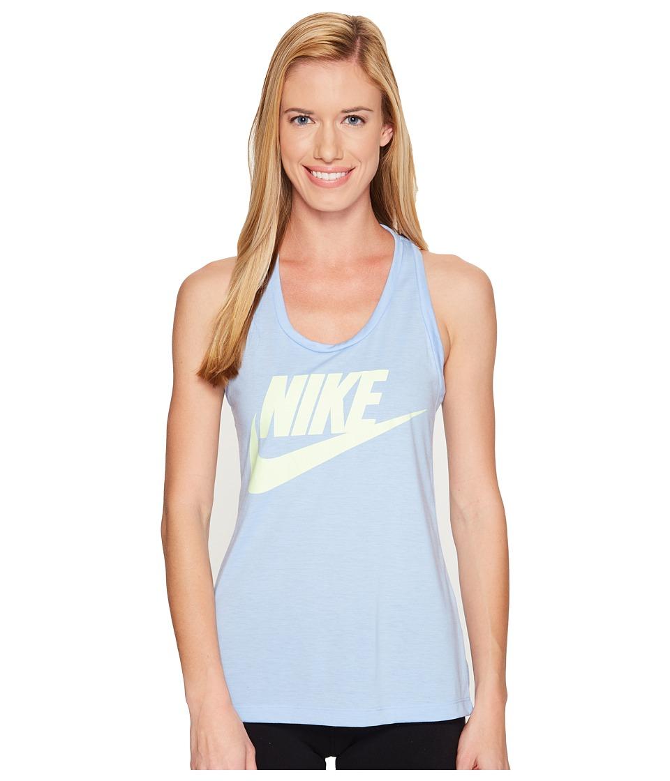 Nike - Sportswear Essential Tank (Aluminum/Aluminum/Barely Volt) Women's Sleeveless