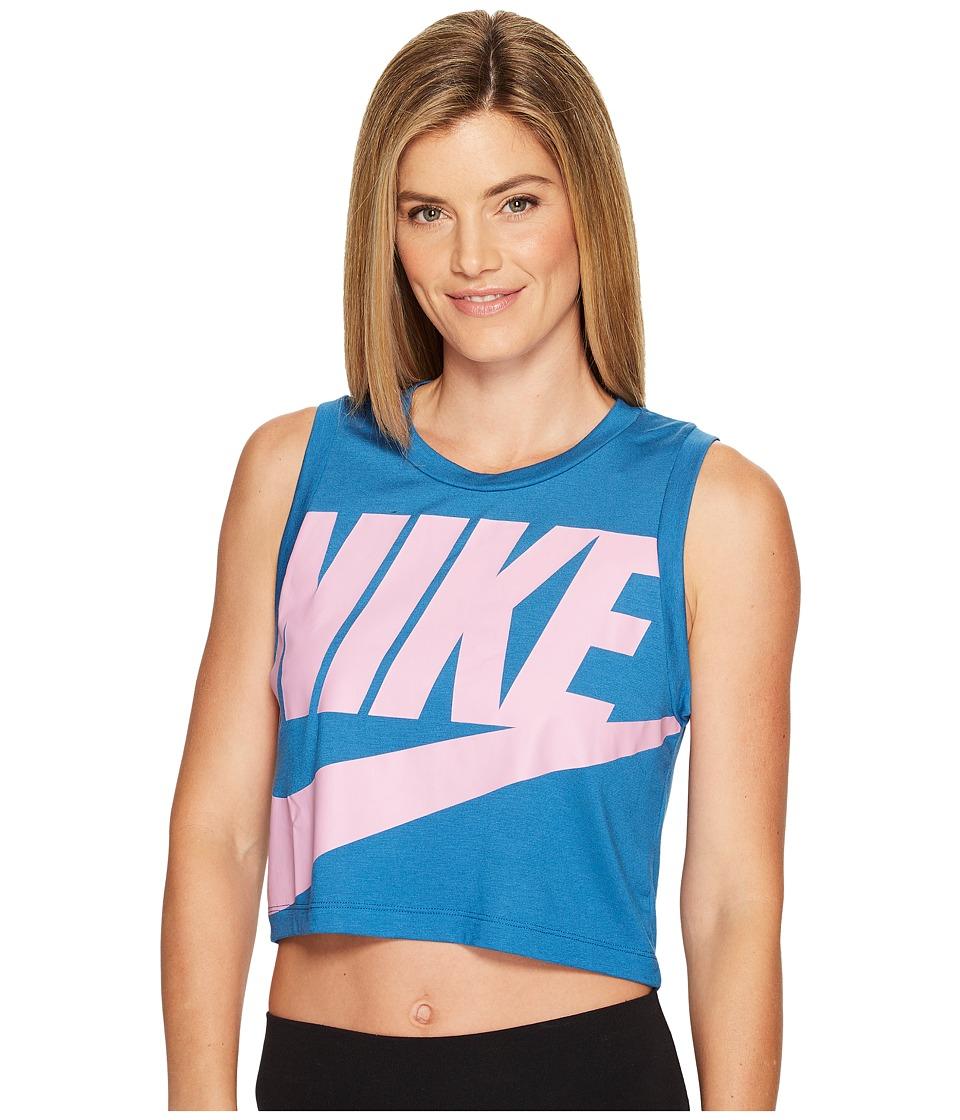 Nike - Sportswear Essential Tank (Industrial Blue/Industrial Blue/Orchid) Women's Sleeveless