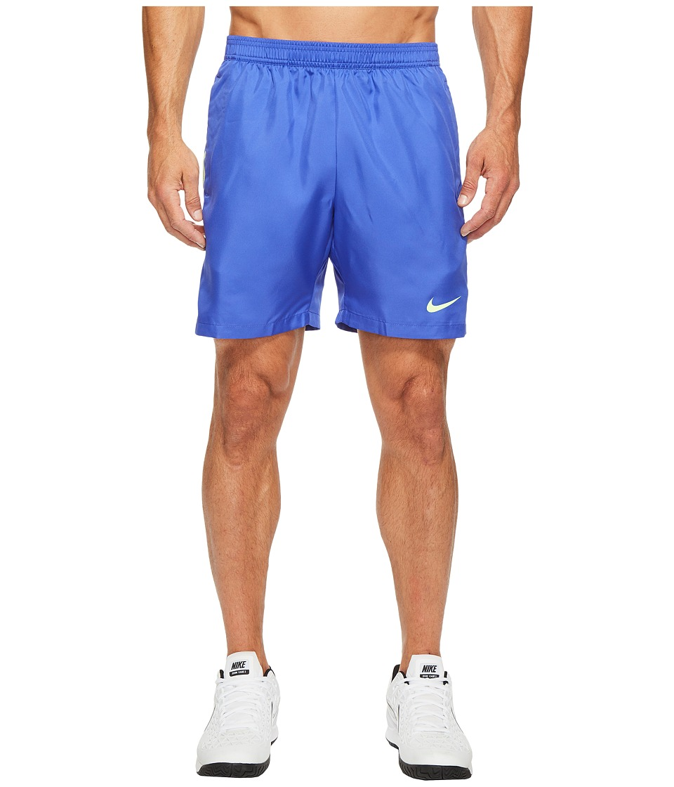 Nike - Court Dry 7 Tennis Short (Paramount Blue/Ghost Green/Ghost Green) Men's Shorts