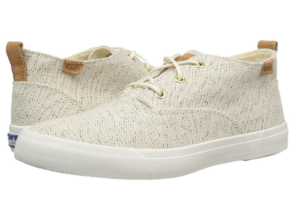 Keds - Triumph Mid Salt Pepper (Cream) Women's Shoes