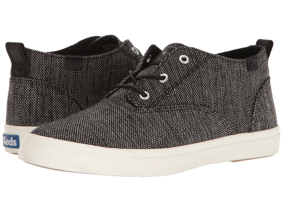 Keds - Triumph Mid Salt Pepper (Black) Women's Shoes