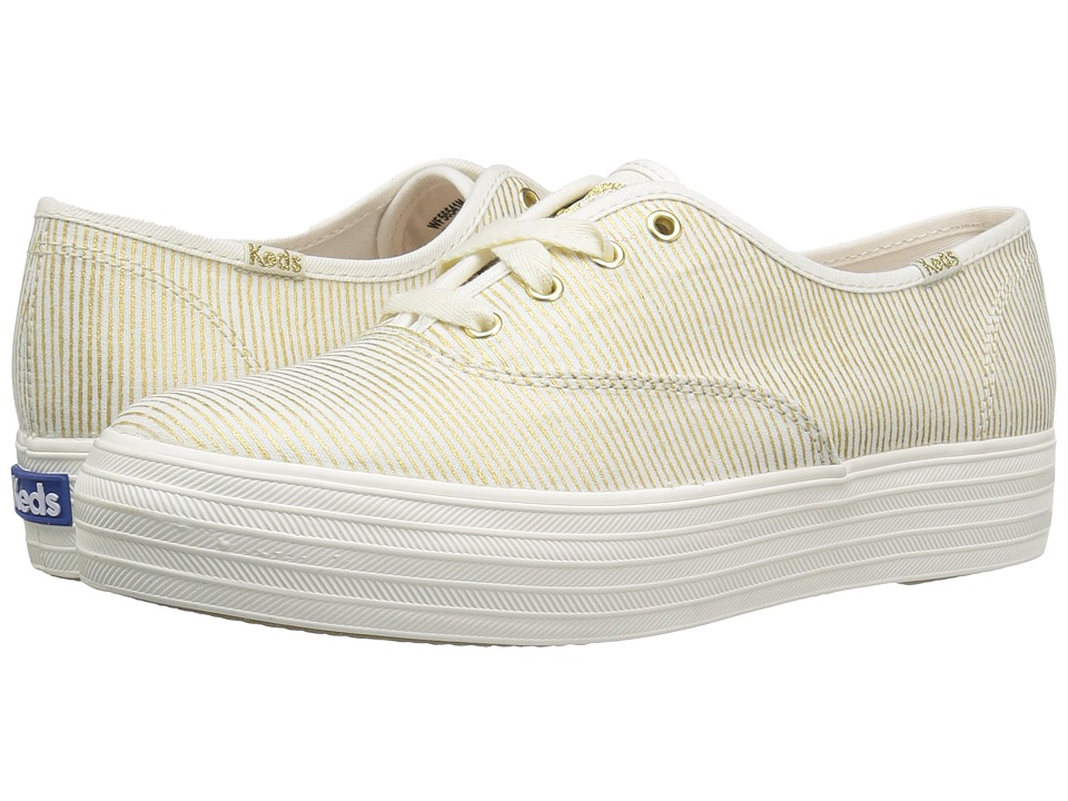 Keds - Triple Metallic Stripe (Gold) Women's Shoes