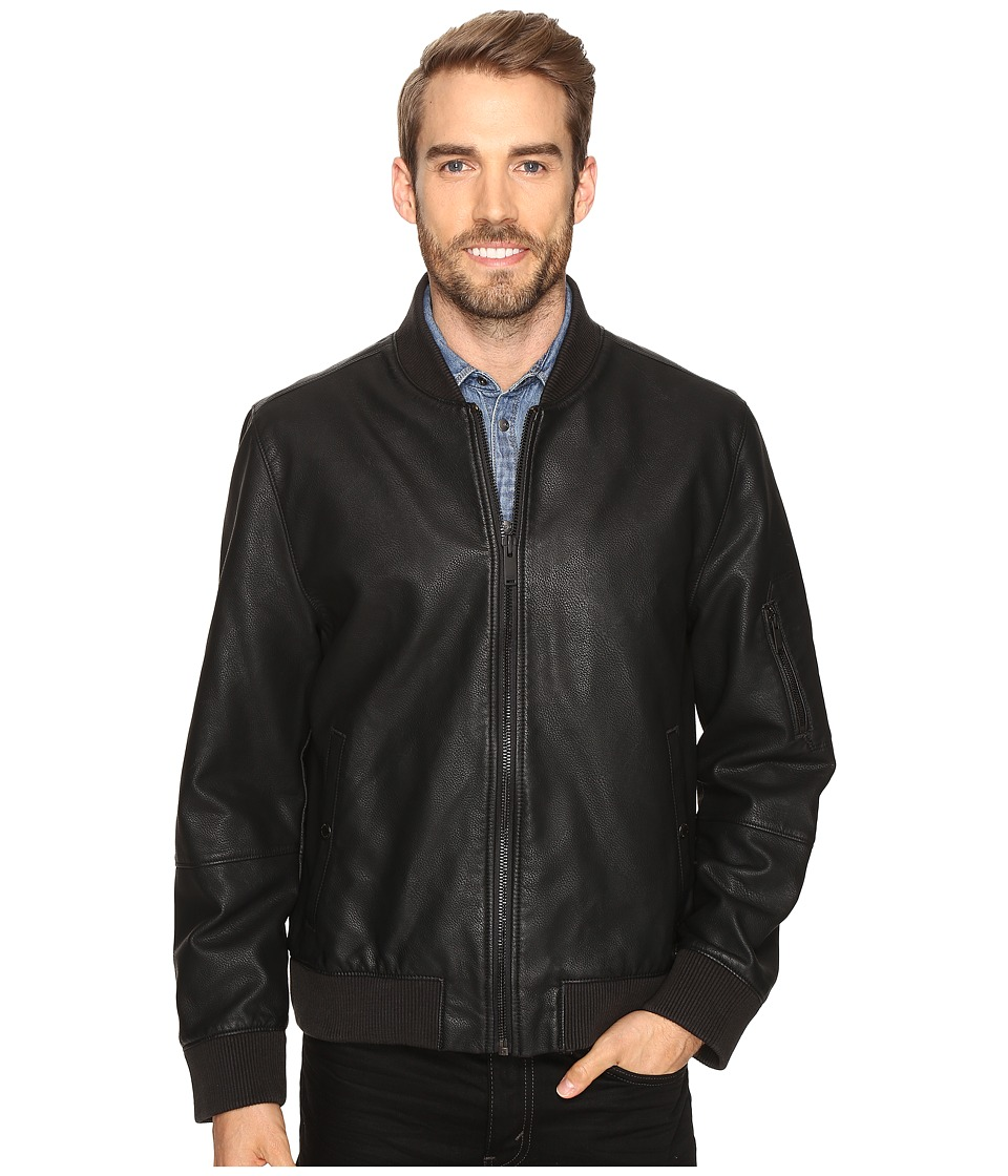 Calvin Klein Jeans - Faux Leather Aviator (Black) Men's Clothing