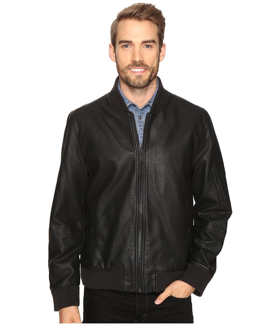 Calvin Klein Jeans - Faux Leather Aviator (Black) Men's Clothing