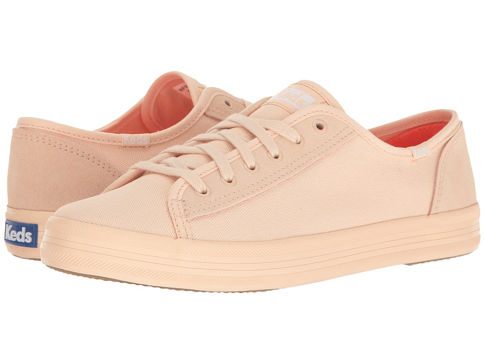 Keds - Kickstart Retro Court Mono (Peach) Women's Lace up casual Shoes