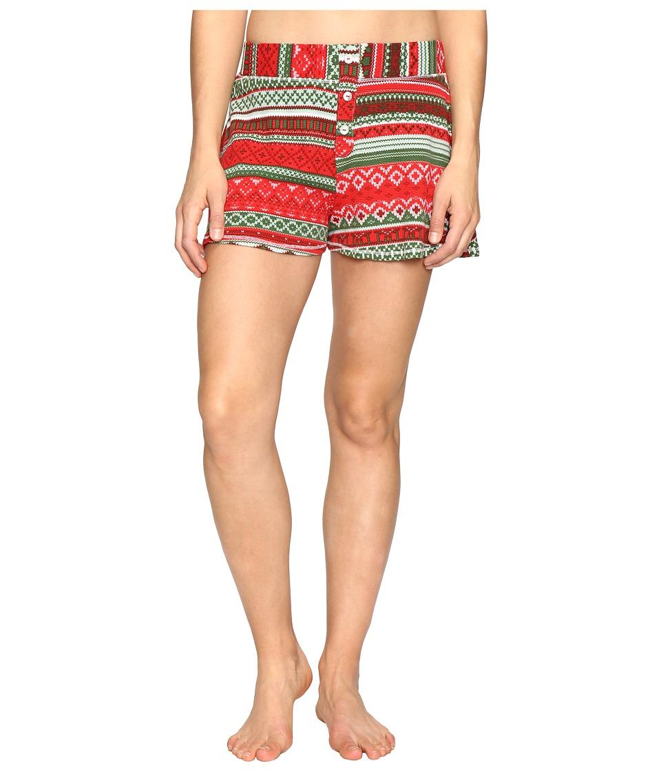 Show Me Your Mumu - Slumber Party Shorts (Gingerbread Stripe) Women's Shorts