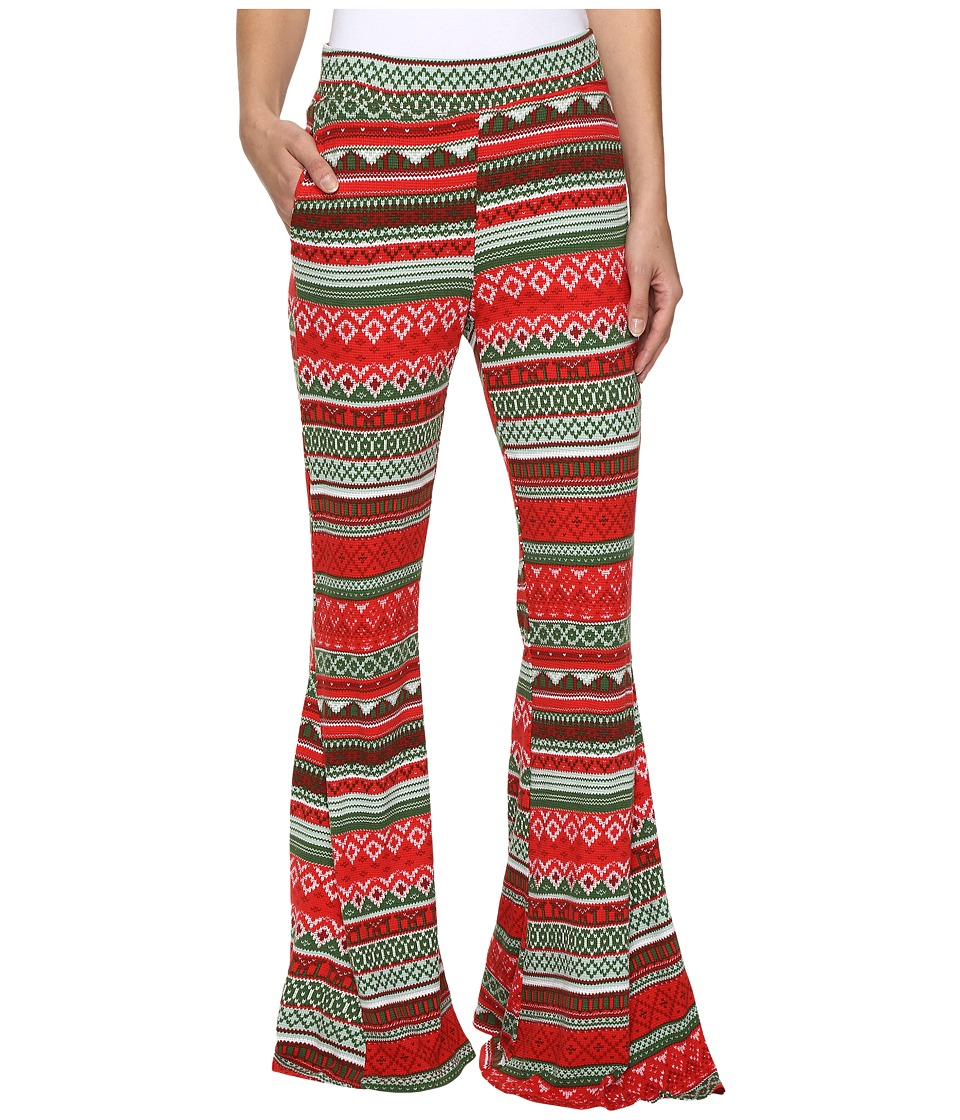 Show Me Your Mumu - Fiesta Flare Pants (Gingerbread Stripe) Women's Casual Pants