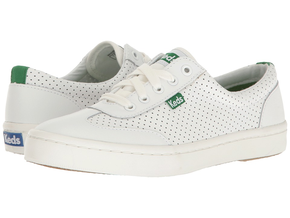 Keds - Tournament Retro Perf (White/Green) Women's Shoes
