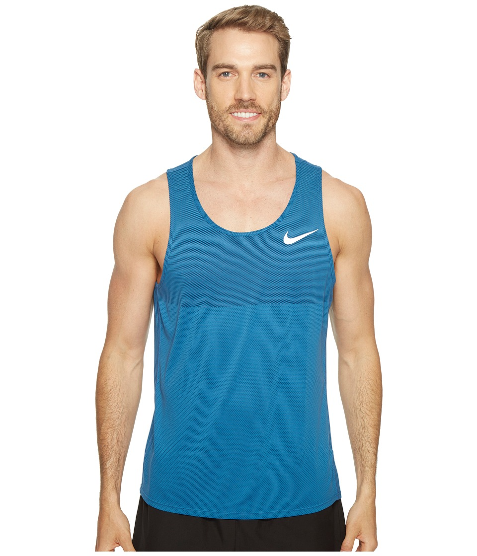 Nike - Zonal Cooling Relay Running Tank (Industrial Blue) Men's Sleeveless