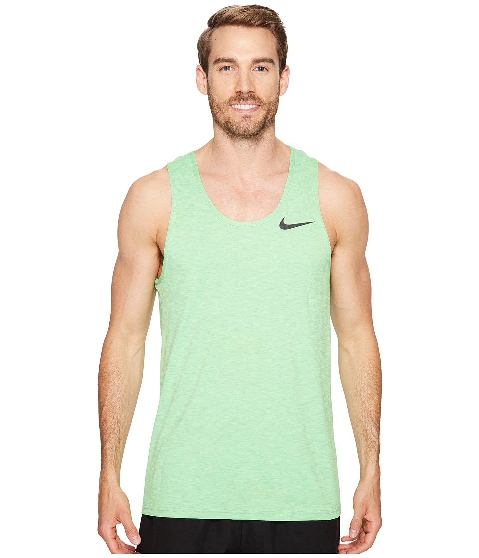Nike - Breathe Training Tank (Ghost Green/Tourmaline/Black) Men's Sleeveless