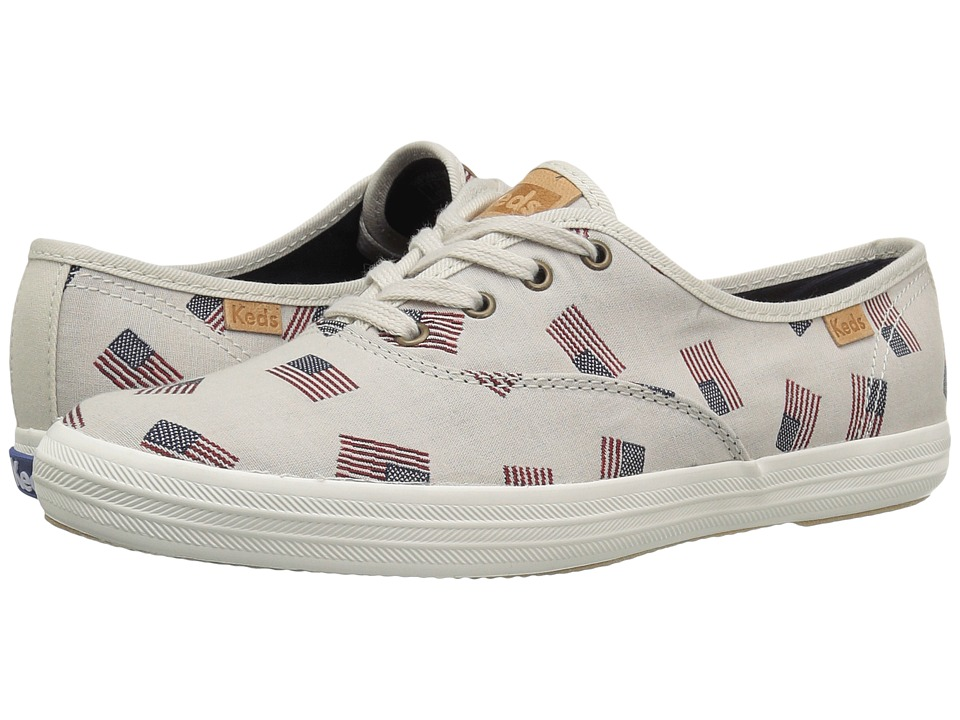 Keds - Champ Flag Jacquard (Cream) Women's Shoes