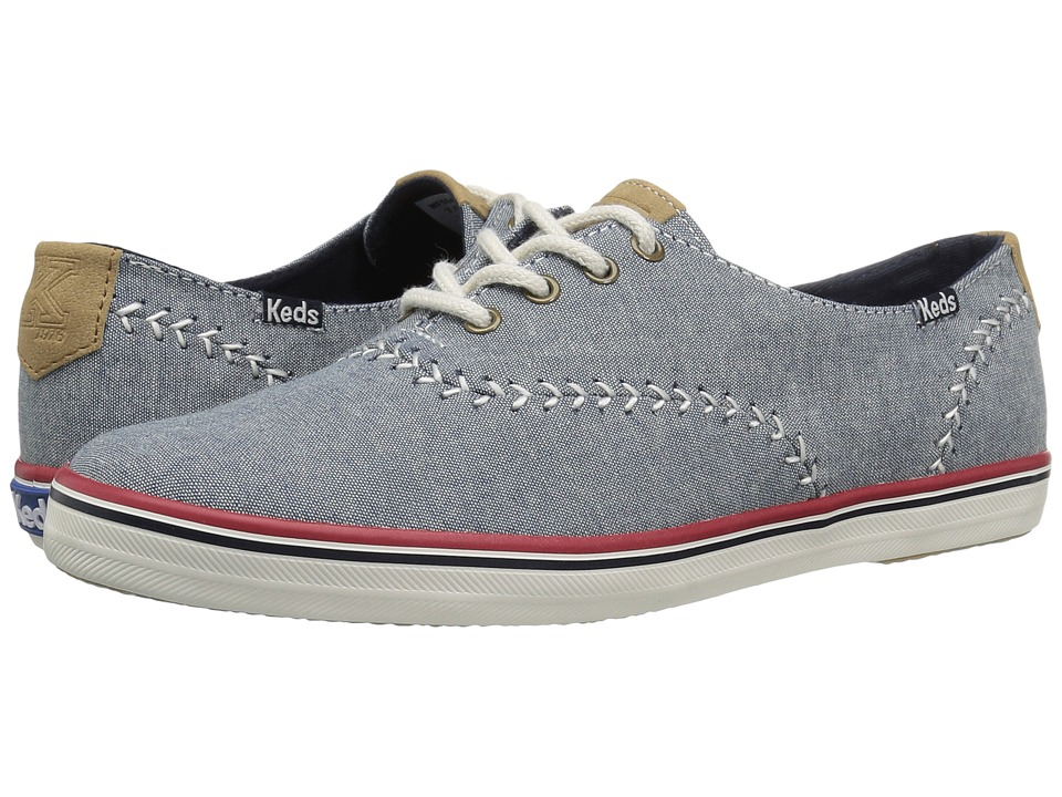 Keds - Pennant Chambray (Blue) Women's Shoes