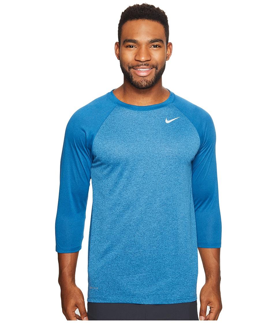 Nike - Legend 3/4 Raglan Tee (Industrial Blue/Light Photo Blue) Men's T Shirt