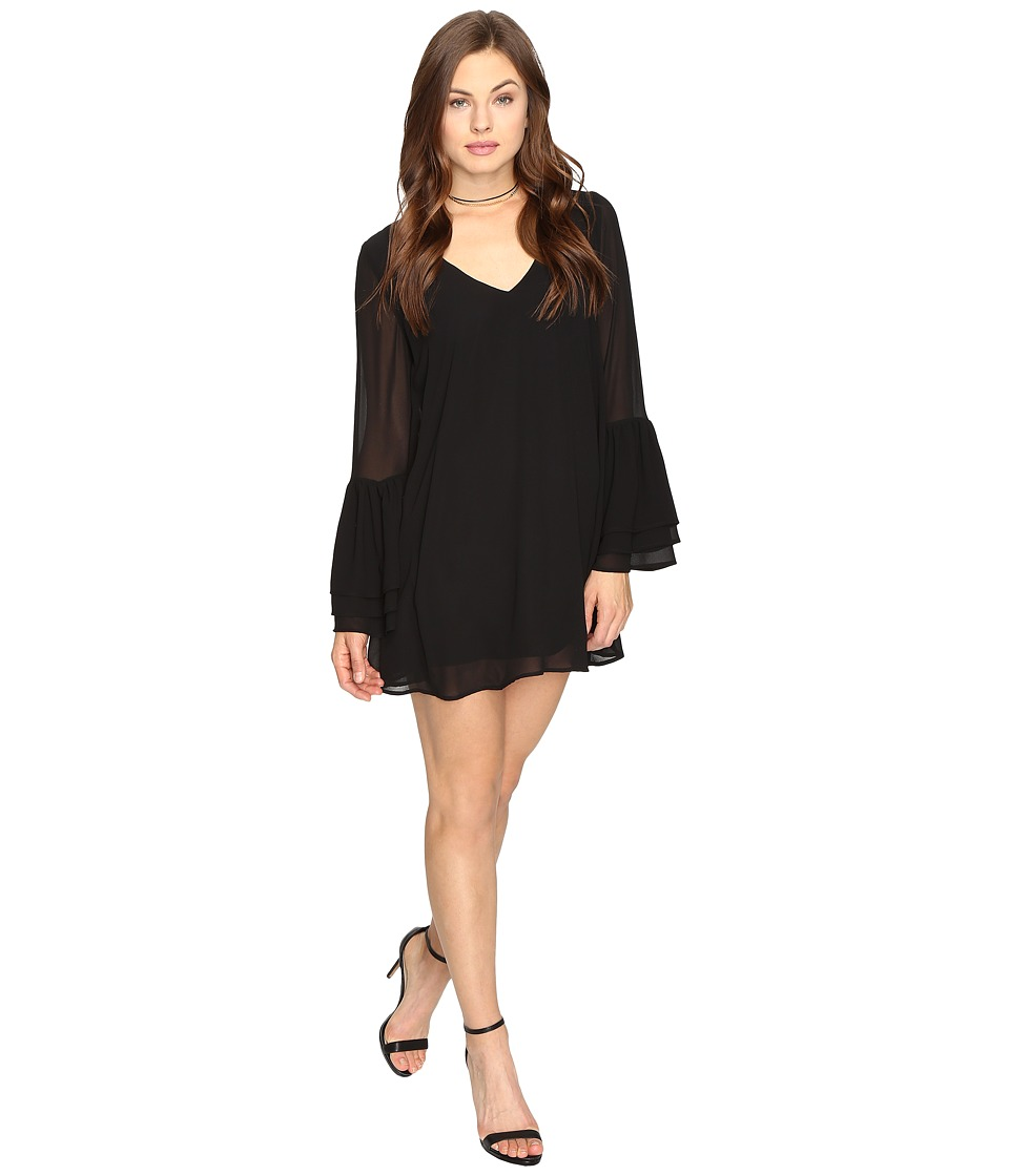 Show Me Your Mumu - Nolita Mini Dress (Black Chiffon) Women's Dress