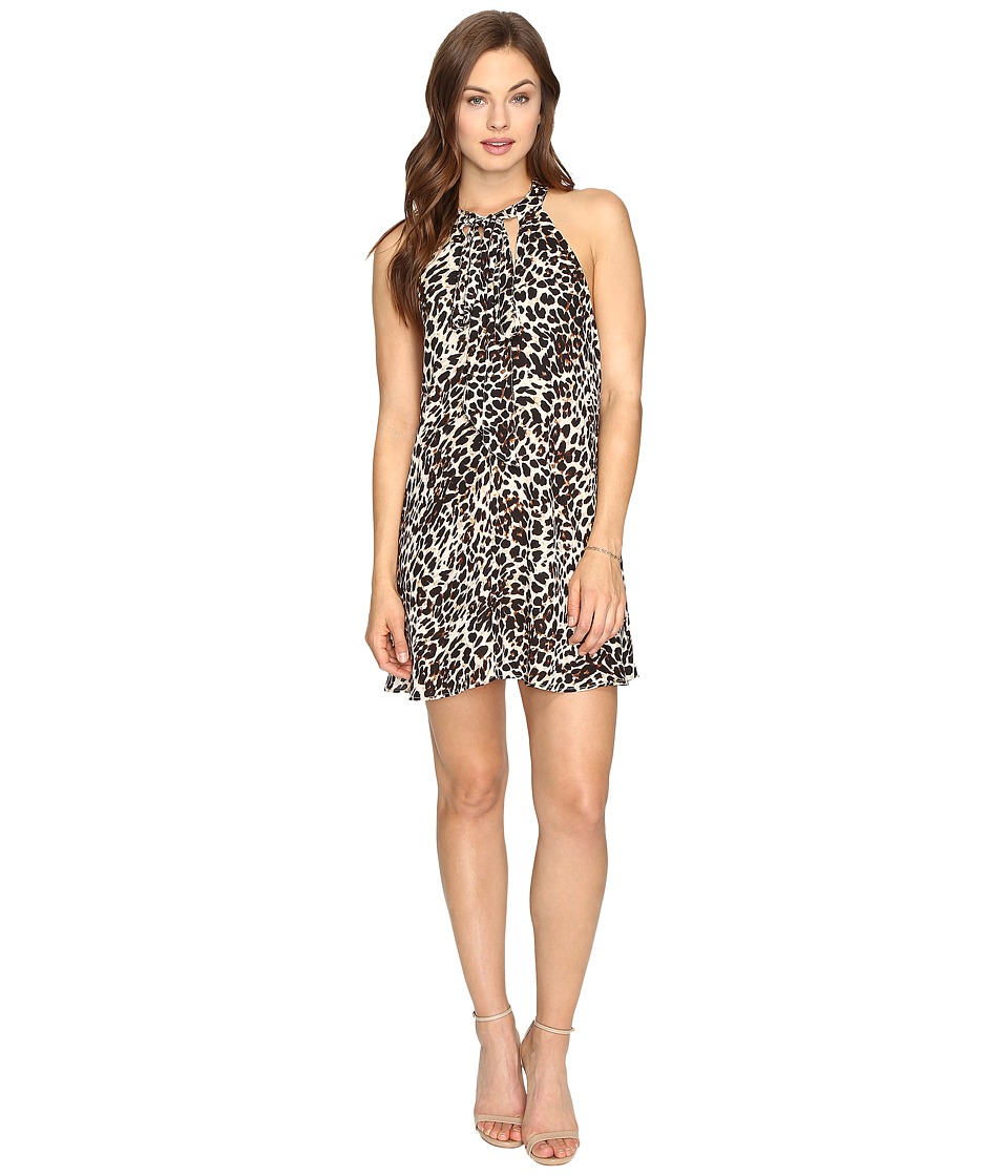 Show Me Your Mumu - Tess Tie Front Dress (Cha Cha Cheetah) Women's Dress