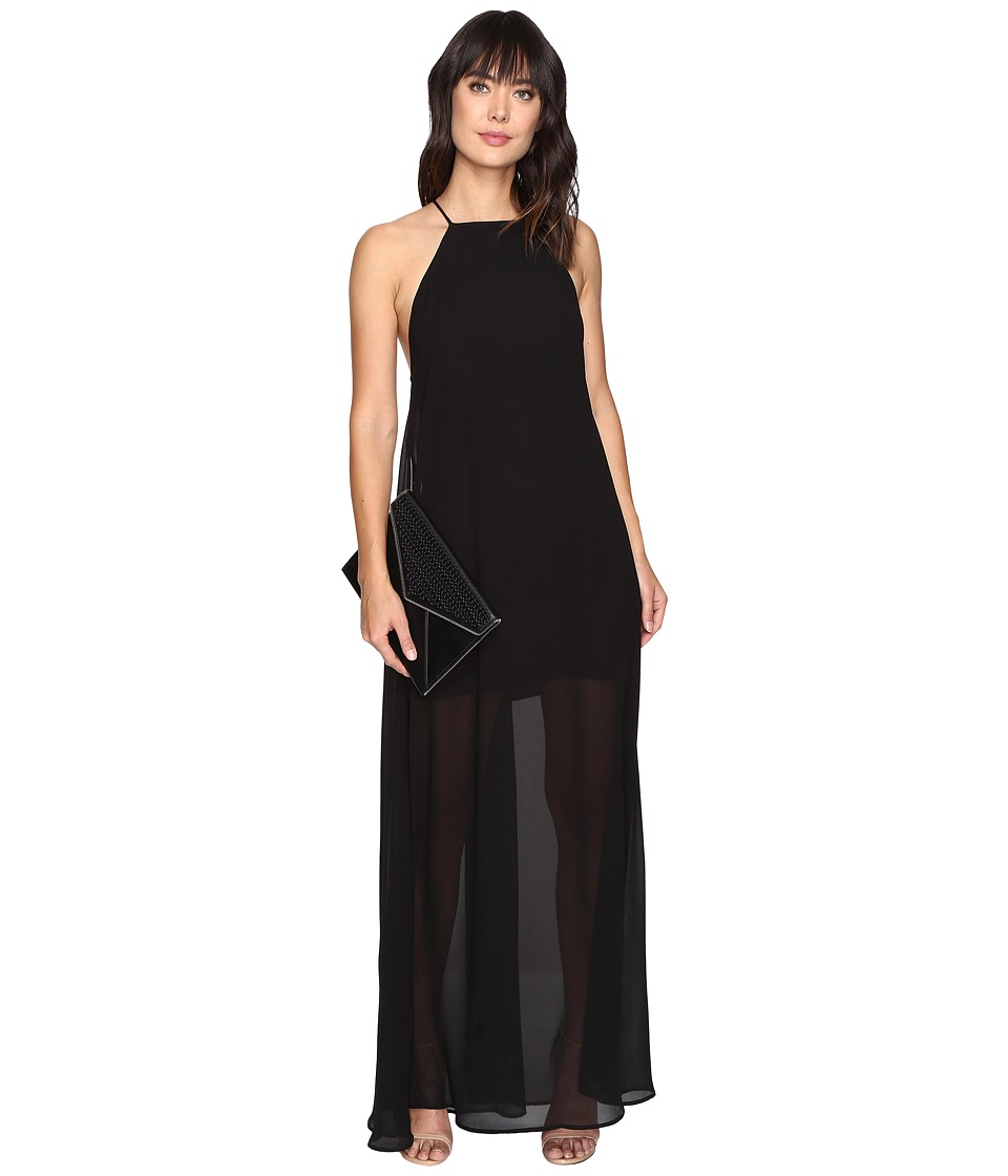 Show Me Your Mumu - Bronte Maxi Dress (Black Chiffon) Women's Dress