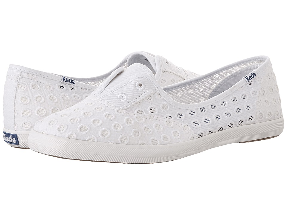 Keds - Chillax Mini Eyelet (White) Women's Shoes
