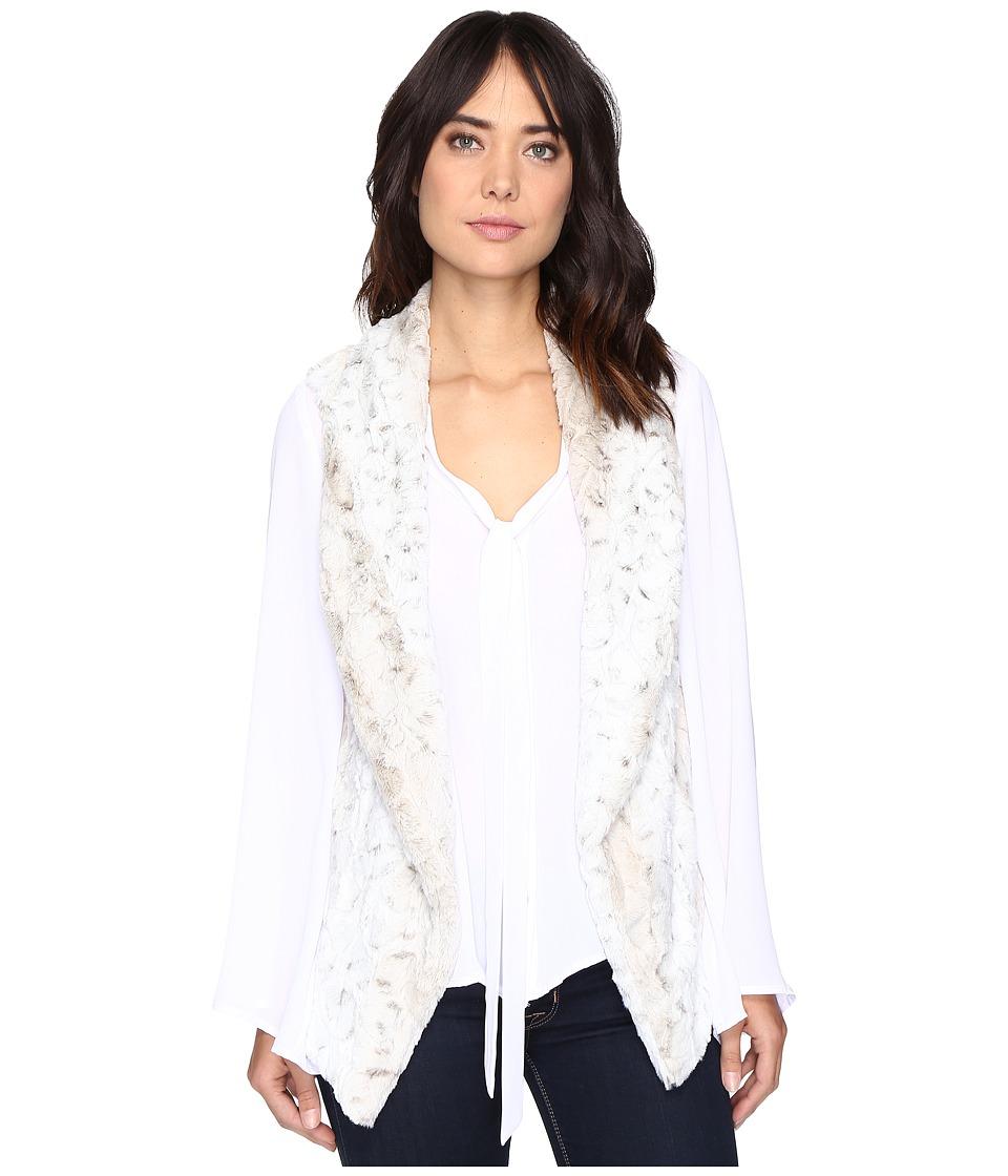 Show Me Your Mumu - Fausta Fur Vest (White Jag Faux Fur) Women's Vest