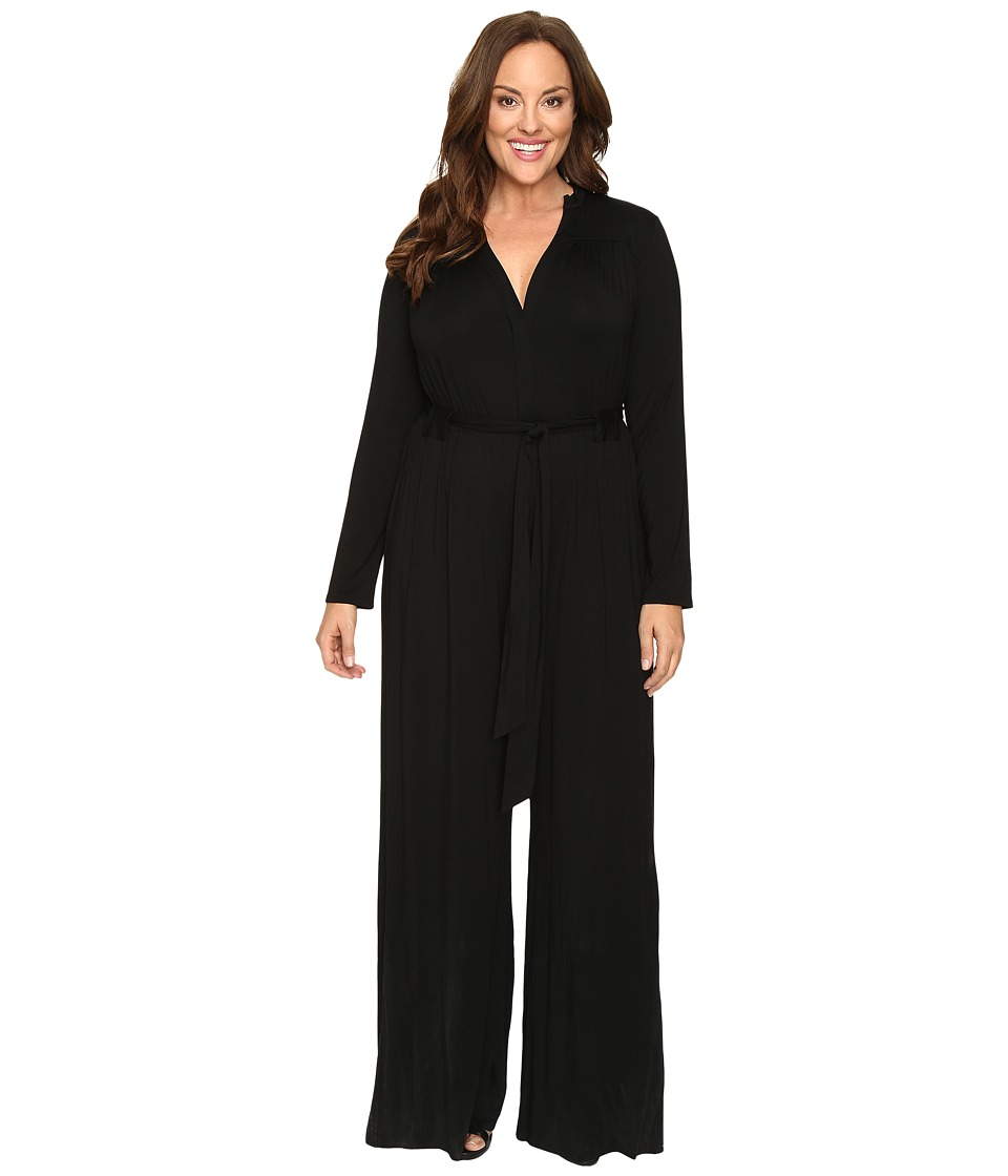 Rachel Pally - Plus Size Lizee Jumpsuit White Label (Black) Women's Jumpsuit & Rompers One Piece