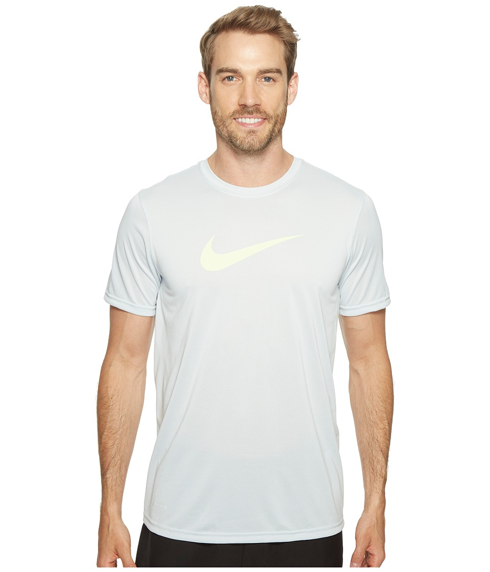 Nike - Dry Training Tee (Pure Platinum/Ghost Green) Men's T Shirt