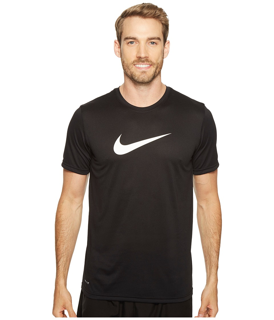 Nike - Dry Training Tee (Black/White) Men's T Shirt