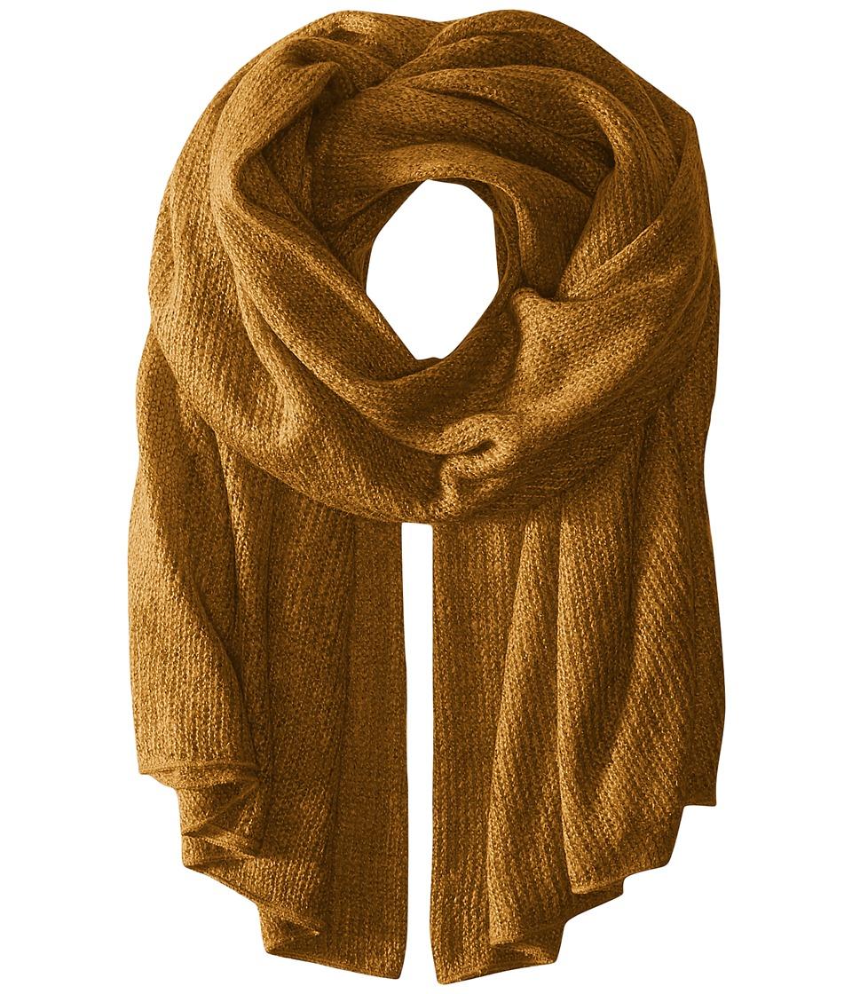Steve Madden - Solid Knit Blanket Wrap (Mustard) Scarves