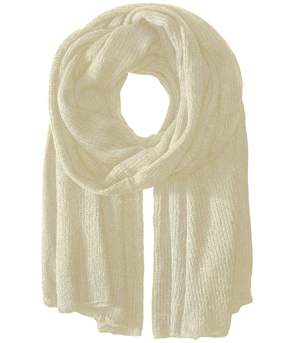 Steve Madden - Solid Knit Blanket Wrap (Ivory) Scarves