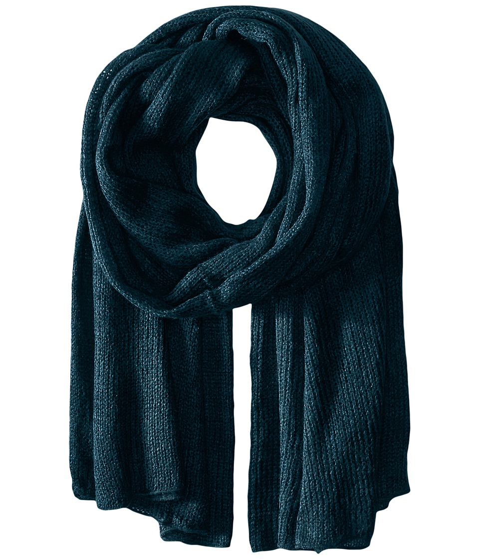 Steve Madden - Solid Knit Blanket Wrap (Lagoon) Scarves