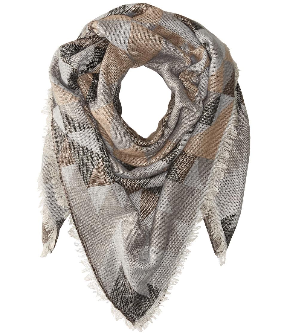 Steve Madden - Kaleidoscope Jacquard Blanket Wrap (Neutral) Scarves