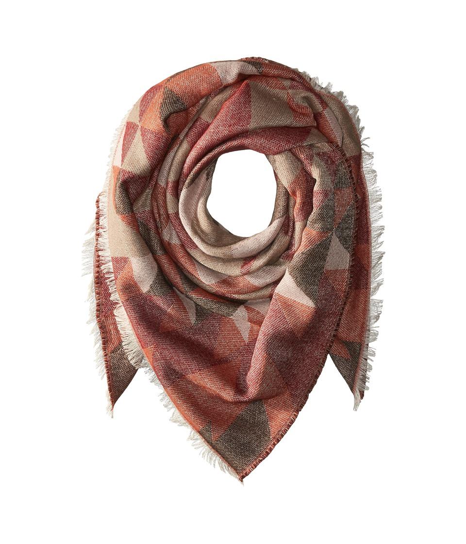Steve Madden - Kaleidoscope Jacquard Blanket Wrap (Warm) Scarves
