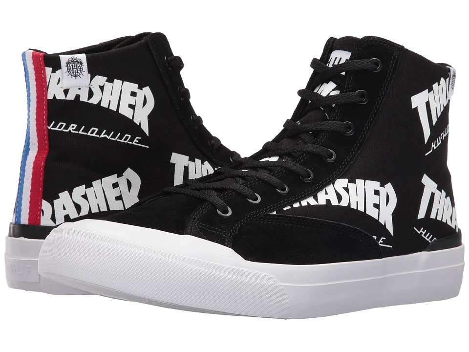 HUF - Huf X Thrasher Classic Hi (Black) Men's Skate Shoes