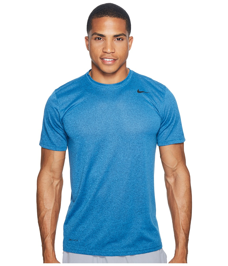 Nike - Legend 2.0 Short Sleeve Tee (Industrial Blue/Light Photo Blue/Heather/Black) Men's T Shirt