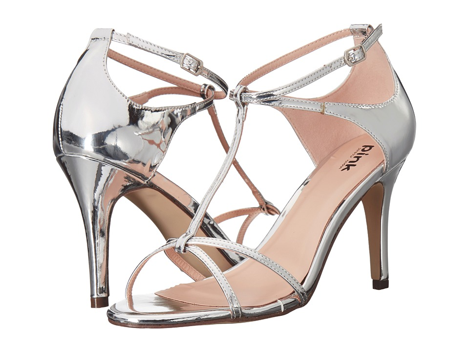 Paradox London Pink - Peyton (Silver Mirror) Women's Sandals