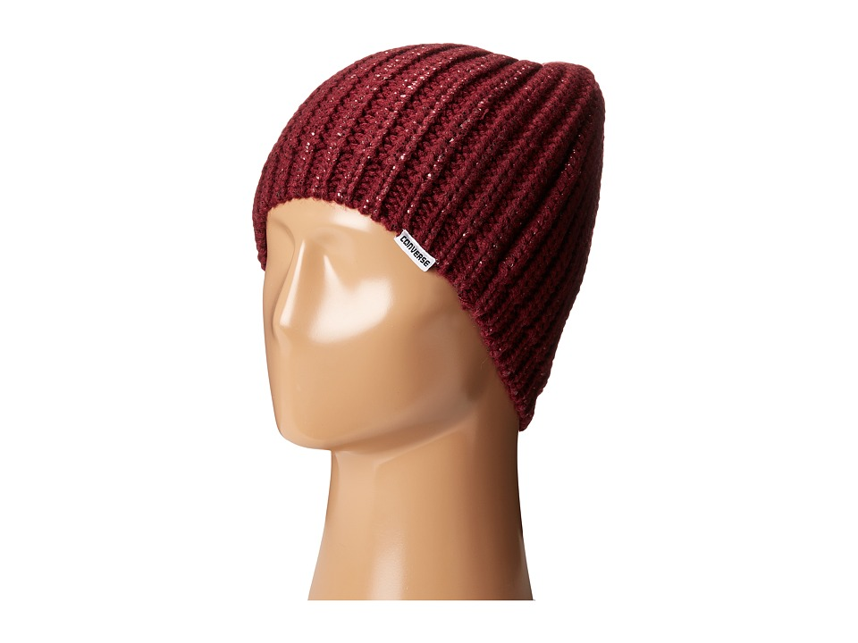 Converse - Metallic Coated Beanie (Deep Bordeaux) Beanies