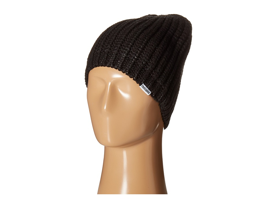 Converse - Metallic Coated Beanie (Black Metallic) Beanies