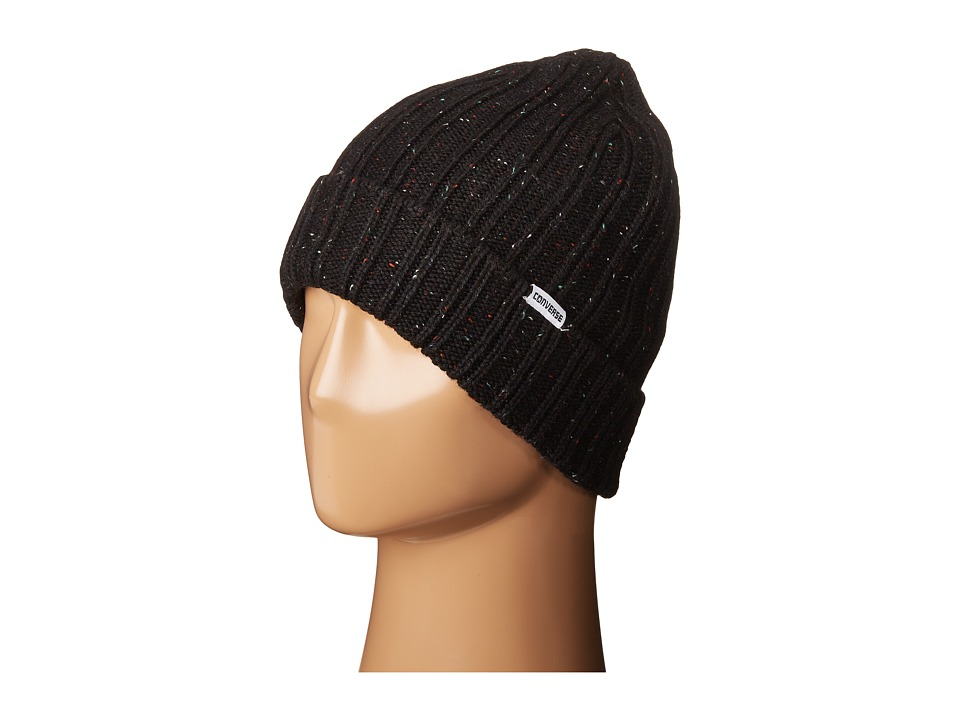 Converse - Cons Rib Knit Watchcap (Converse Black) Caps