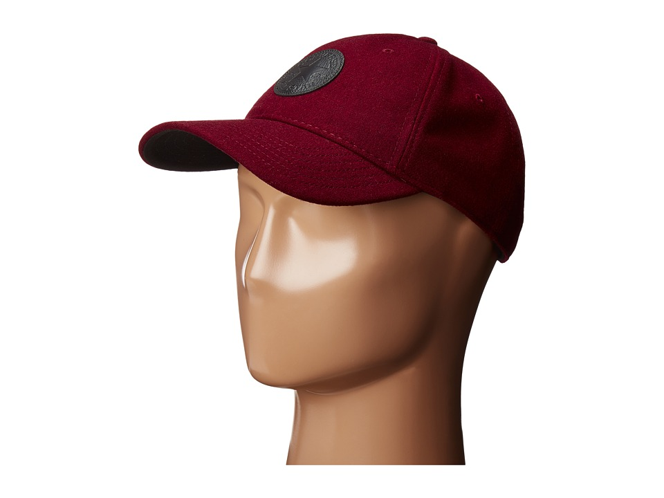 Converse - Core Wool Baseball Cap (Deep Bordeaux) Baseball Caps