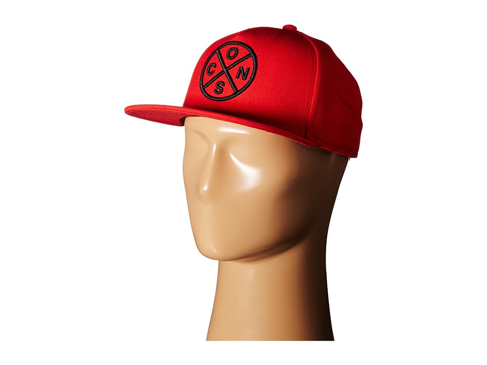 Converse - Cons Crossing Snapback Cap (Converse Red) Caps